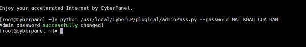 Đổi mật khẩu admin trên Cyberpanel