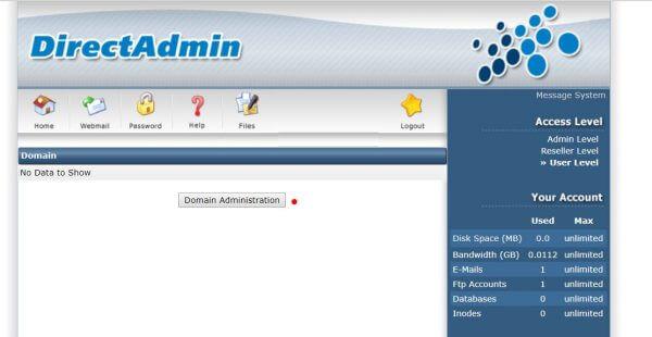 quản lý domain trên directadmin