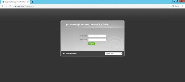 Giao diện đăng nhập iredmail